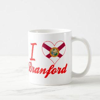 Amo a Branford, la Florida Tazas De Café