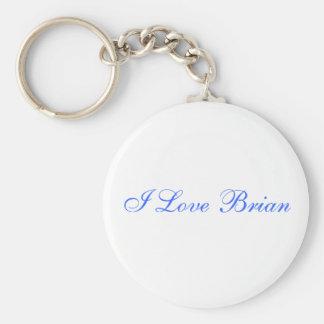 Amo a Brian Llavero Redondo Tipo Pin