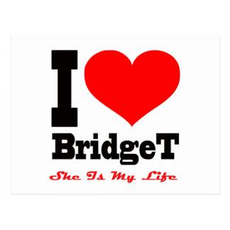 Amo a Bridget. Ella es mi vida Postal