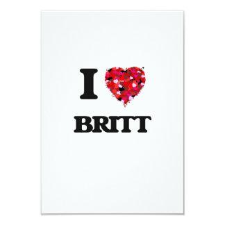 """Amo a Britt Invitación 3.5"""" X 5"""""""