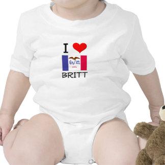 Amo a BRITT Iowa Trajes De Bebé
