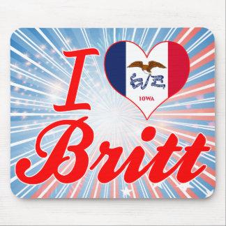 Amo a Britt, Iowa Alfombrillas De Ratón