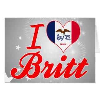 Amo a Britt, Iowa Tarjeta