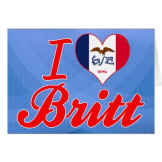 Amo a Britt, Iowa Felicitaciones
