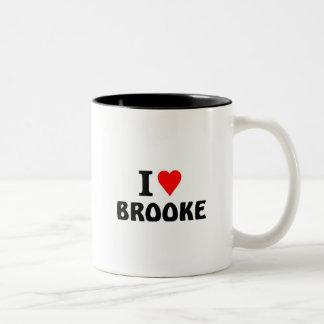 Amo a Brooke Taza Dos Tonos