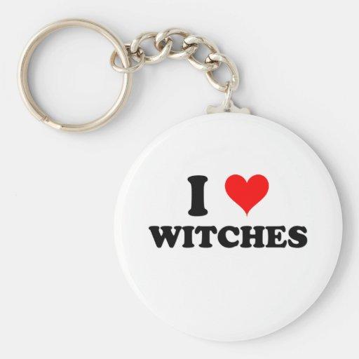 Amo a brujas llavero