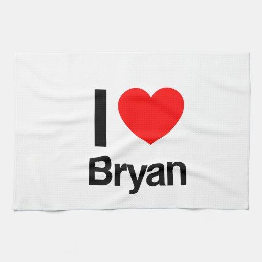 amo a Bryan Toalla De Cocina