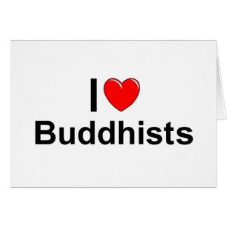 Amo a budistas (del corazón) tarjeta de felicitación