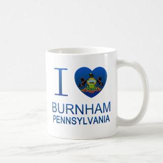 Amo a Burnham PA Taza