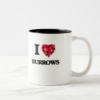 Amo a Burrows Taza Dos Tonos