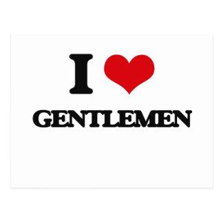 Amo a caballeros tarjetas postales
