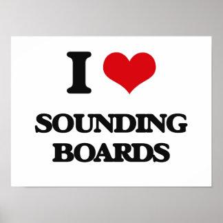 Amo a cajas de resonancia póster