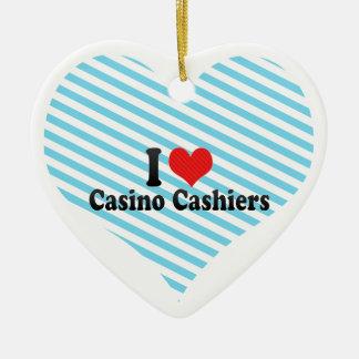 Amo a cajeros del casino adorno