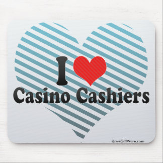 Amo a cajeros del casino tapete de raton
