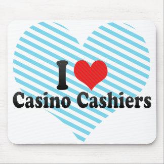 Amo a cajeros del casino alfombrillas de ratones