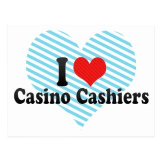 Amo a cajeros del casino postales