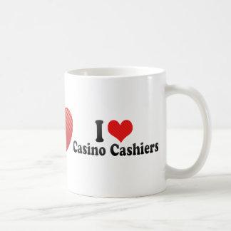 Amo a cajeros del casino taza