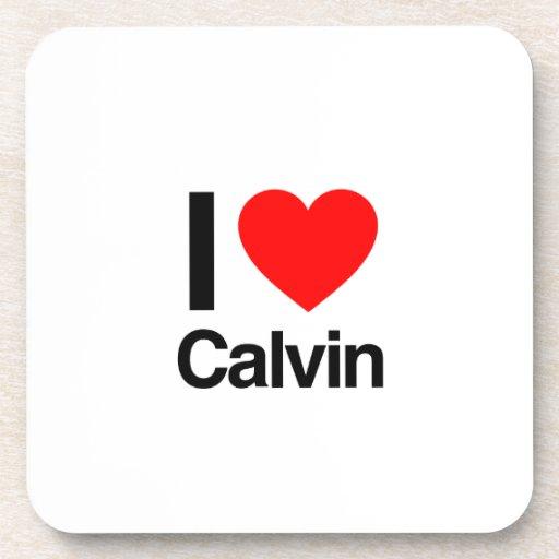 amo a calvin posavasos de bebida
