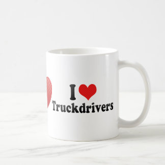 Amo a camioneros taza