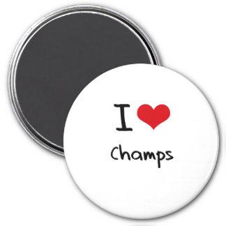 Amo a campeones imanes de nevera