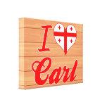 Amo a Carl, Georgia Lona Envuelta Para Galerías