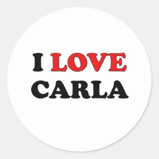Amo a Carla Pegatina Redonda