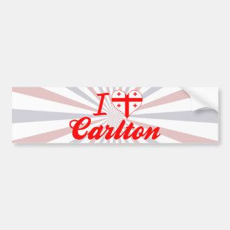 Amo a Carlton Georgia Etiqueta De Parachoque