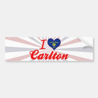 Amo a Carlton Oregon Pegatina De Parachoque