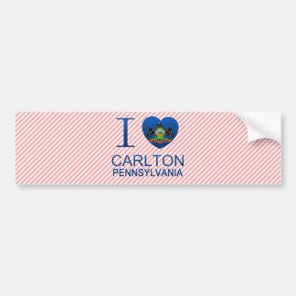 Amo a Carlton PA Etiqueta De Parachoque