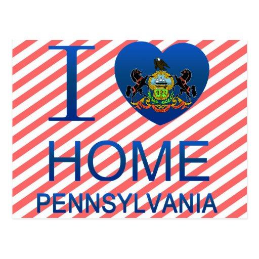 Amo a casa, PA Tarjeta Postal