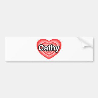 Amo a Cathy. Te amo Cathy. Corazón Pegatina Para Auto
