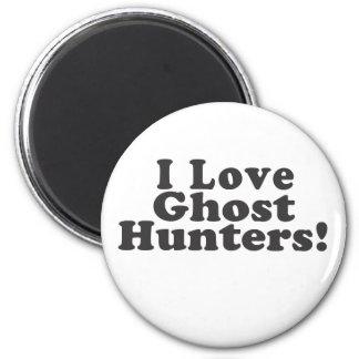 ¡Amo a cazadores del fantasma! Imán Redondo 5 Cm