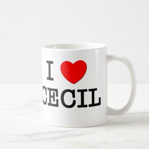 Amo a Cecil Tazas De Café
