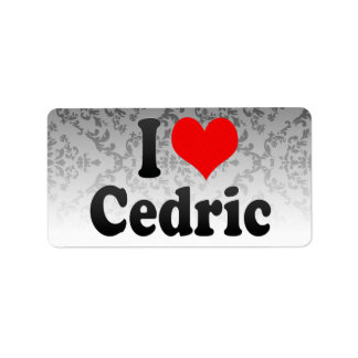 Amo a Cedric Etiquetas De Dirección