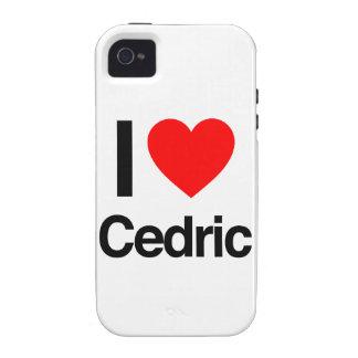amo a Cedric iPhone 4 Carcasas