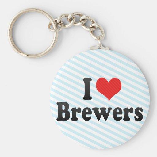 Amo a cerveceros llaveros personalizados