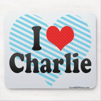 Amo a Charlie Alfombrilla De Ratones