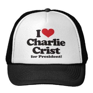 Amo a Charlie Crist para el presidente Gorras De Camionero