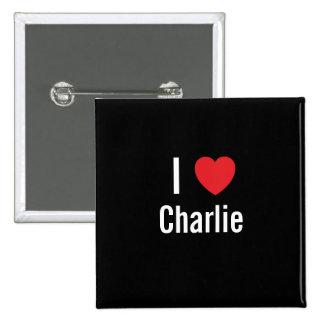 Amo a Charlie Pin Cuadrada 5 Cm