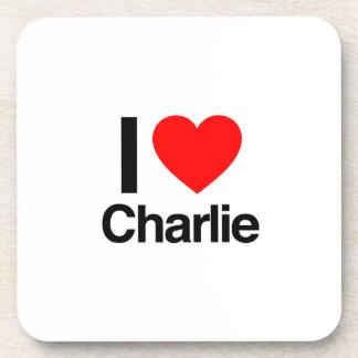 amo a Charlie Posavasos De Bebidas