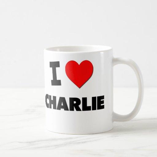 Amo a Charlie Taza Básica Blanca