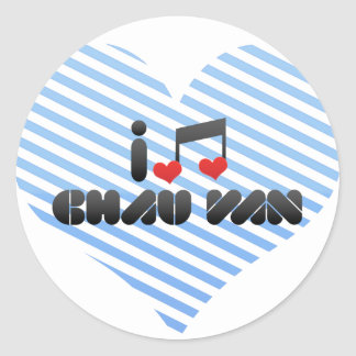 Amo a Chau Van Pegatina Redonda