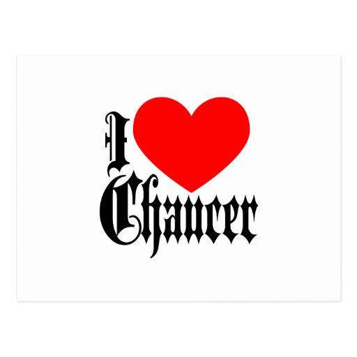 Amo a Chaucer Postales