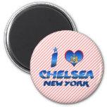 Amo a Chelsea, Nueva York Imán Redondo 5 Cm