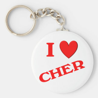 Amo a Cher Llaveros Personalizados