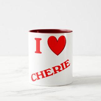 Amo a Cherie Taza De Dos Tonos