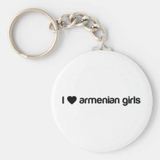 Amo a chicas armenios llavero redondo tipo pin