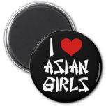 Amo a chicas asiáticos imán para frigorifico
