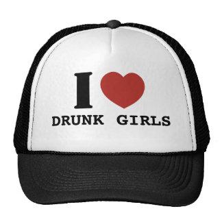 Amo a chicas borrachos gorros bordados