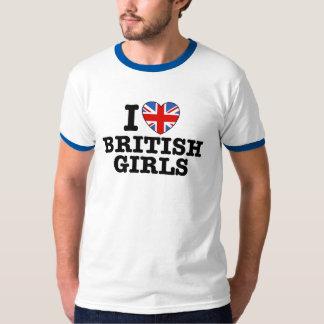 Amo a chicas británicos playera